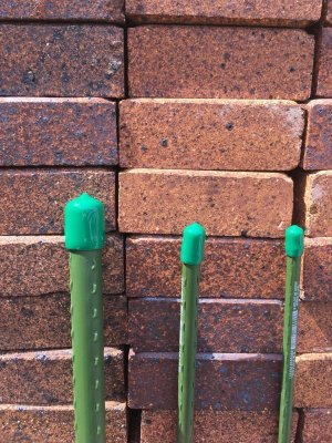画像1: 園芸支柱キャップ 緑色