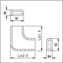 情報1: 圧着端子用絶縁スリーブ:旗型[SH250] (シリコン製)