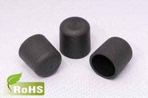 画像1: ハロゲンフリーキャップ(黒色)内径12ミリ〜20ミリ