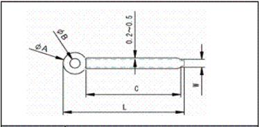 配線クリップの寸法