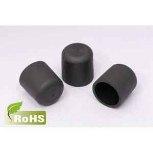画像: ハロゲンフリーキャップ(黒色)内径3ミリ〜10ミリ